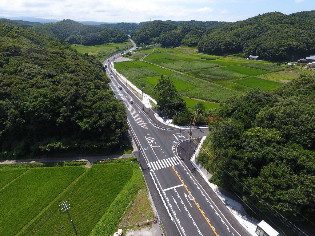国道9号小沢見交差点改良工事